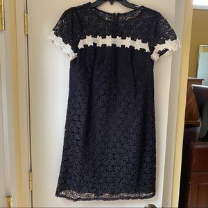 Adrianna Papell black & white lace dress!